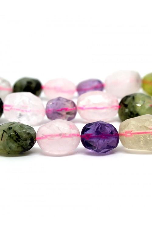 Микс: кварц, аметрин, пренит, хрусталь 100-814