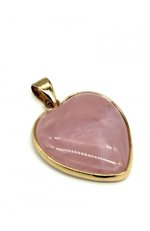 Подвеска, розовый кварц 101-849